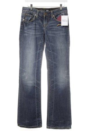 Christian Audigier Jeansschlaghose stahlblau extravaganter Stil