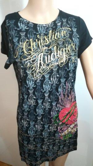 Christian Audigier Lang shirt veelkleurig Modal