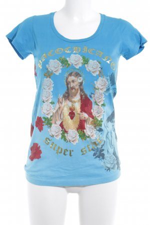 Christian Audigier Print-Shirt Blumenmuster extravaganter Stil