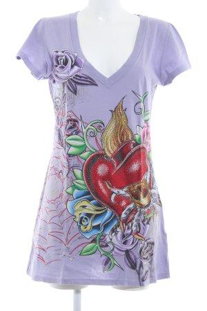Christian Audigier T-shirt col en V imprimé avec thème style extravagant