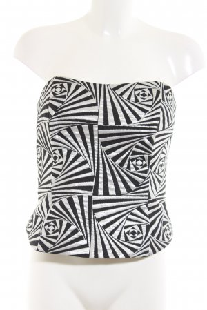 Christian Berg Bandeau Top black-silver-colored abstract pattern elegant