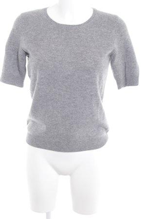 Christian Berg Short Sleeve Sweater grey weave pattern casual look