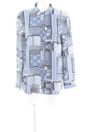 Christian Berg Langarmhemd blau Mustermix Elegant