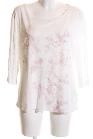 Christian Berg Longsleeve weiß-pink Blumenmuster Casual-Look