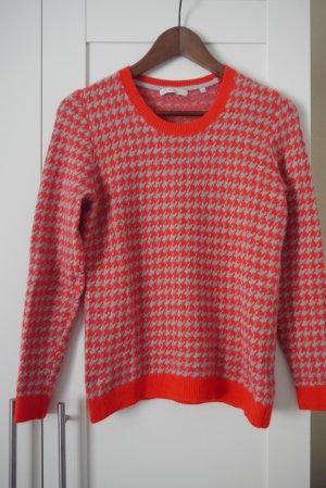 Christian Berg Pullover grau & orange Gr. 38 Neuw.