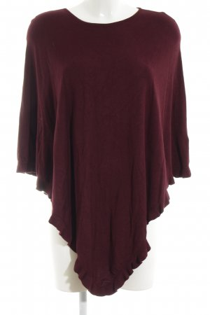 Christian Berg Strickponcho rot Casual-Look