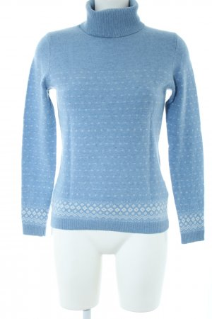 Christian Berg Strickpullover blau-weiß grafisches Muster Casual-Look