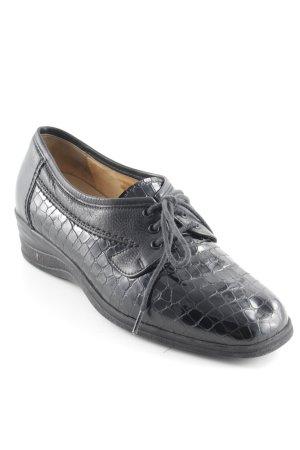 Christian Dietz Chaussures à lacets noir style cuir