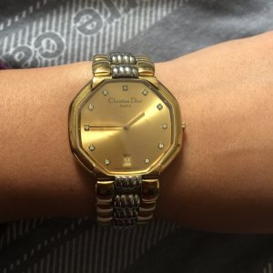 Christian Dior Self-Winding Watch gold-colored-silver-colored