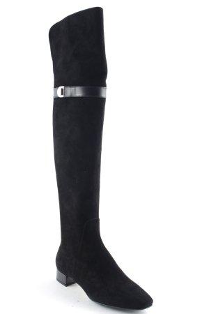 """Christian Dior Stivale con tacco """"Blason Thigh Boots Noir 36"""" nero"""