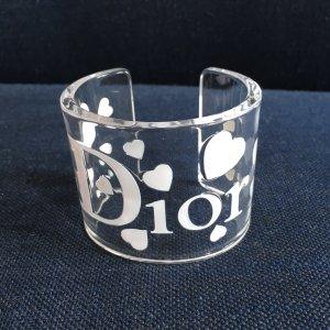 Christian Dior  Armreif Armband by John Galliano Logo transparent Plexi acryl