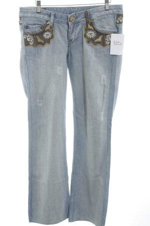 Christian Dior Boot Cut Jeans himmelblau Casual-Look