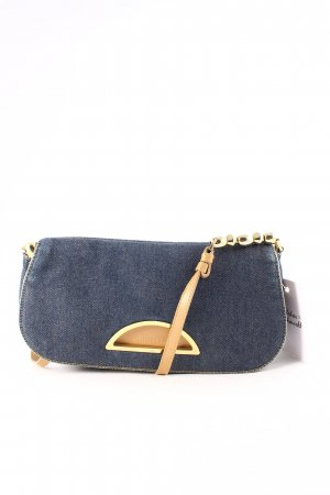 Christian Dior Clutch mehrfarbig Jeans-Optik