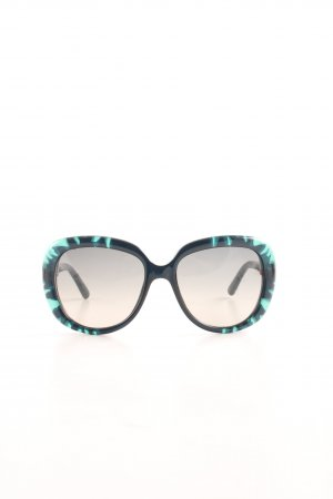 Christian Dior Angular Shaped Sunglasses black-turquoise abstract pattern