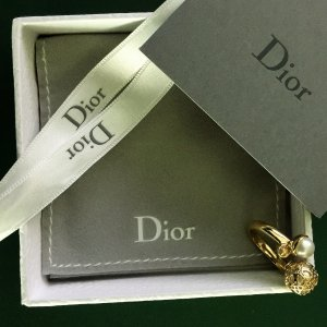 Christian Dior Bague en or doré-blanc or