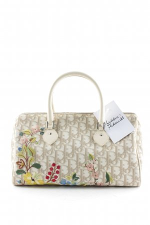 Christian Dior Carry Bag cream-beige graphic pattern casual look
