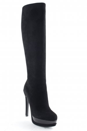 "Christian Dior Botas de tacón alto ""Stripes High Boots Black 36,5"" negro"