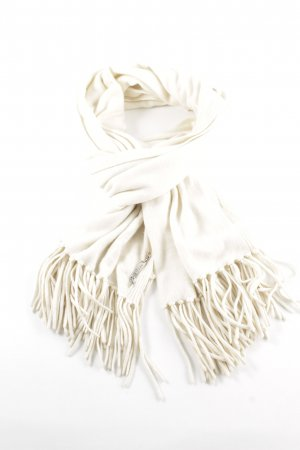 Christian Dior Bufanda de cachemir crema elegante
