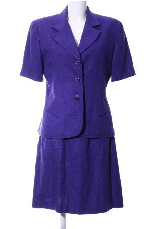 Christian Dior Kostüm dunkelviolett Webmuster Business-Look