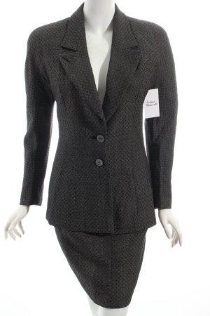 Christian Dior Kostüm schwarz-weiß Webmuster Vintage-Artikel