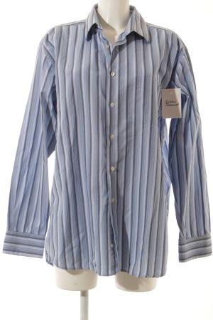 Christian Dior Langarmhemd dunkelblau-himmelblau Streifenmuster klassischer Stil