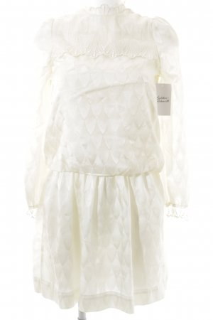 Christian Dior Langarmkleid creme Romantik-Look