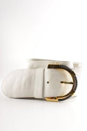 Christian Dior Ledergürtel wollweiß Street-Fashion-Look