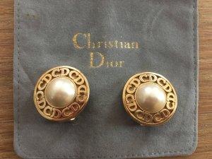 Christian Dior Logo CD Ohrclips/Ohrringe
