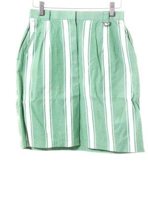 Christian Dior Minirock weiß-grasgrün Streifenmuster sportlicher Stil