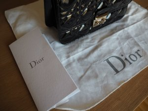 Christian Dior Pochette black leather