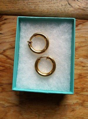 Christian Dior Pendientes de clip color oro metal