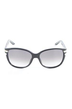 Christian Dior ovale Sonnenbrille schwarz-goldfarben Paris-Look