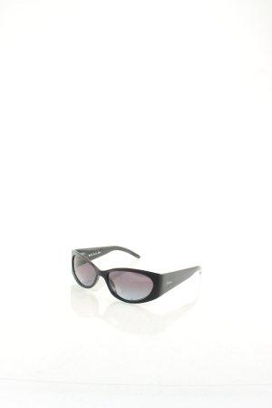 Christian Dior ovale Sonnenbrille schwarz Logoprint