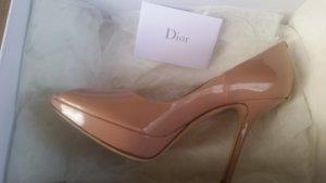 Christian Dior Pumps stoffig roze