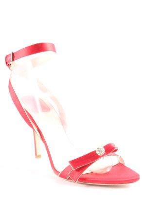 "Christian Dior Sandalen met bandjes ""Serenade "" rood"