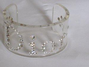 Christian Dior Runway Armreif Armband by John Galliano Logo Swarovski Crystal