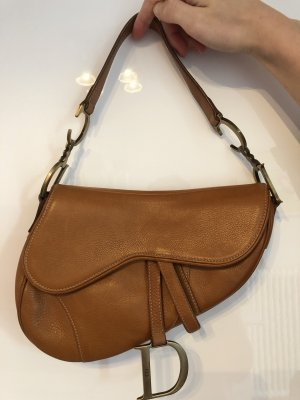 Christian DIOR Saddle Bag/Tasche in Cognac Leder- Vintage