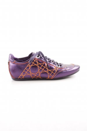 Christian Dior Lace-Up Sneaker lilac-light orange quilting pattern casual look