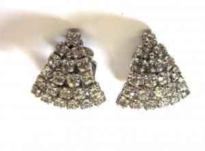 Christian Dior silber Clips Ohrclips Ohrclip Luxus Kristalle Swarovski