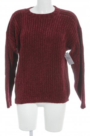 Christian Dior Strickpullover karminrot-braunrot Casual-Look