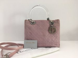 Christian Dior Carry Bag pink-silver-colored