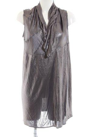 Christian Dior Trägerkleid silberfarben Glanz-Optik