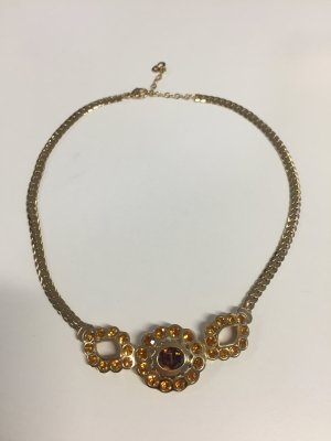 Christian Dior Collier Necklace gold-colored-light orange metal
