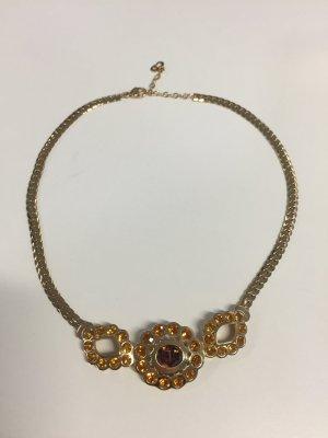 Christian Dior Vintage Collier mit goldenen Steinen