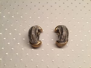 Christian Dior Earclip silver-colored-gold-colored metal