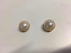 Christian Dior Earclip gold-colored-natural white metal