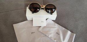 Christian Dior Ovale zonnebril zwart-goud