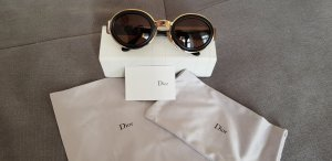 Christian Dior Oval Sunglasses black-gold-colored