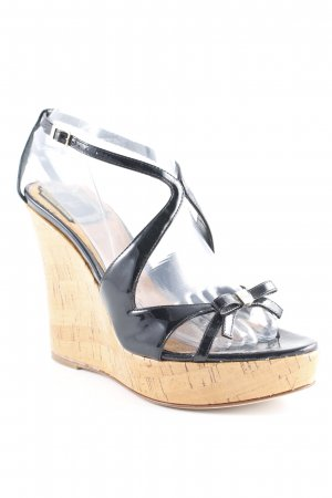 Christian Dior Wedges Sandaletten schwarz Casual-Look