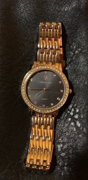 Christian Lacroix Watch With Metal Strap gold-colored